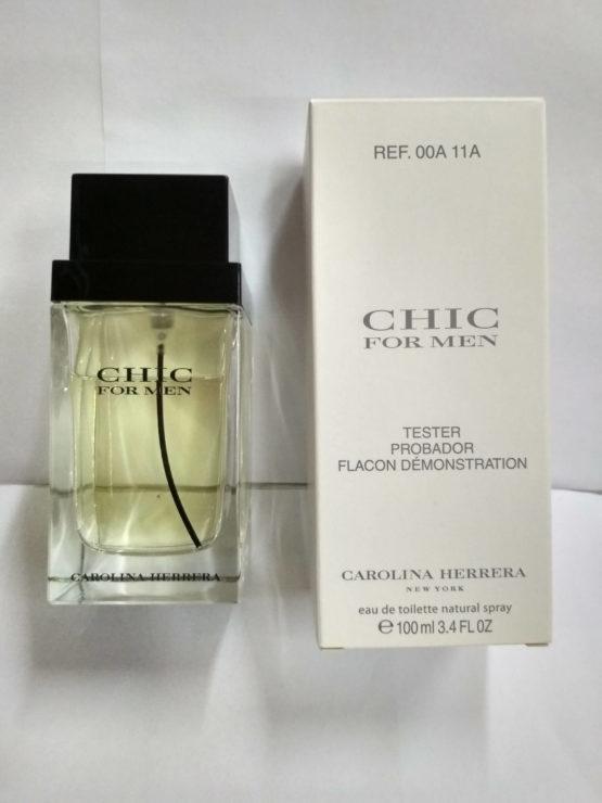 Carolina Herrera Chic For Men 100 ml Tester лэтуаль купить недорого оригина в интернет-магазине элитной парфюмерии parfumin.kiev.ua