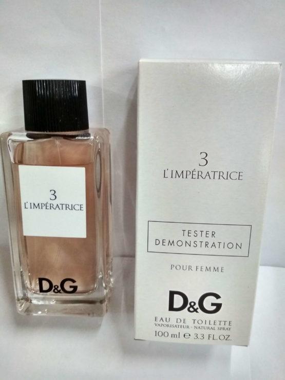Dolce&Gabbana 3 L'Imperatrice 100 ml Tester лэтуаль купить оригинал в официальном интернет-магазине элитной парфюмерии parfumin.kiev.ua